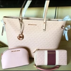 💕NWT Michael Kors Tote with purse and wallet💕